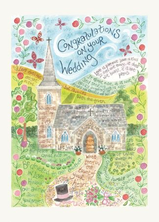 Hannah Dunnett Wedding USA greetings card