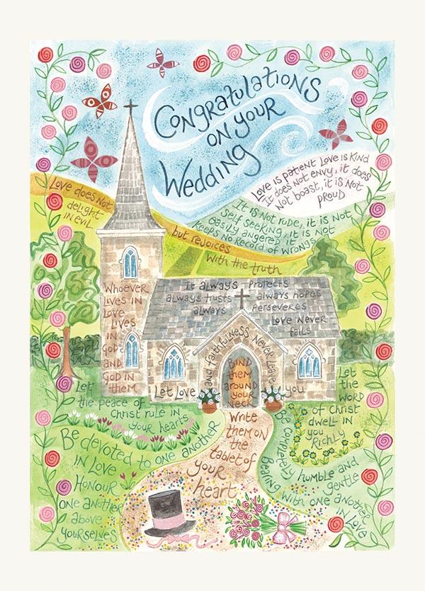 Hannah Dunnett Wedding USA greetings card