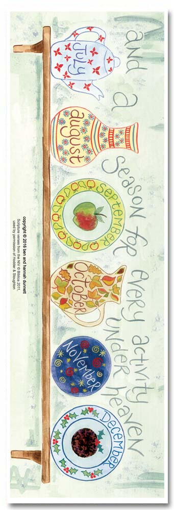 Hannah Dunnett A Time For Everything Bookmark back US version