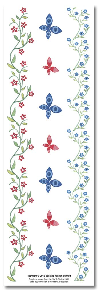 Hannah Dunnett Great Delight bookmark back image US version