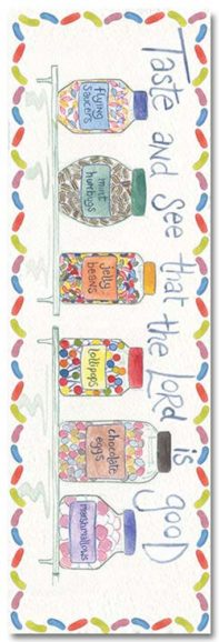 Hannah Dunnett Taste and See Bookmark front with shadow US version