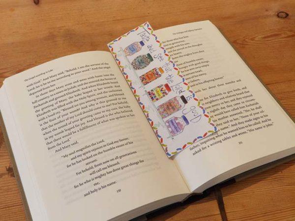 Hannah Dunnett Taste and See bookmark on book US version