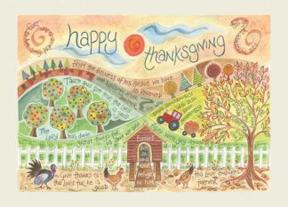 Hannah Dunnett Thanksgiving greetings card