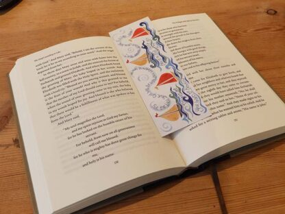 Hannah Dunnett Trust in God bookmark on book US version