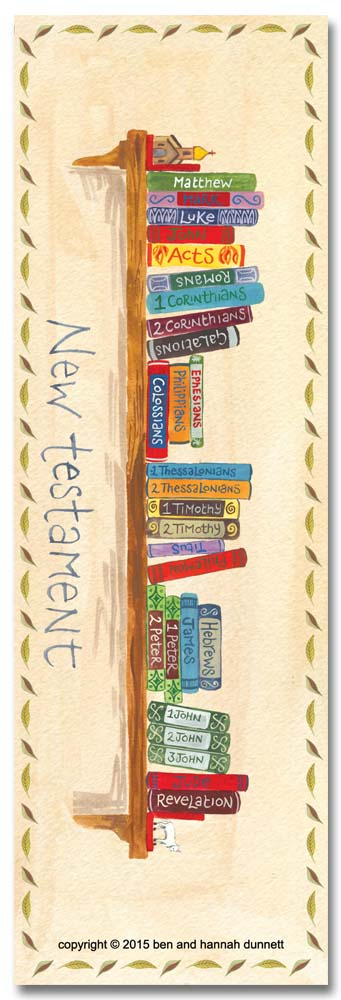 Hannah Dunnett books of the bible bookmark back image US version