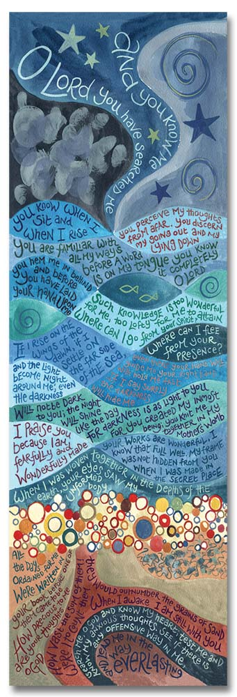 Hannah Dunnett psalm 139 bookmark front image US version