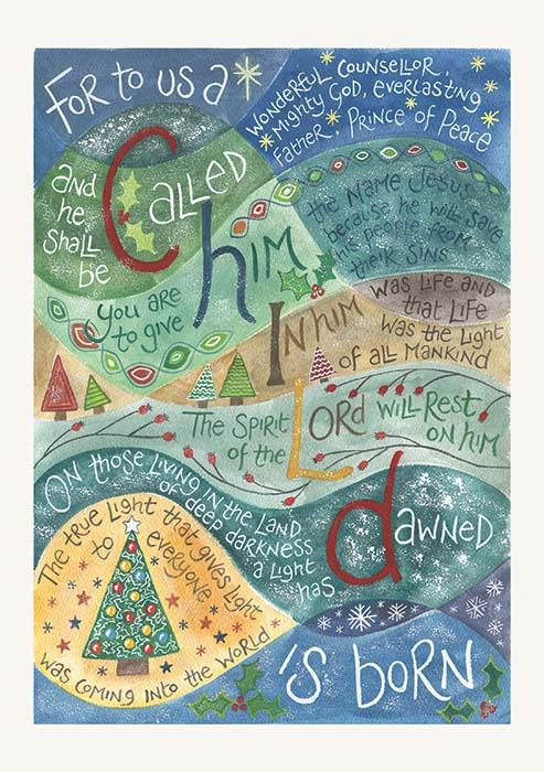 Hannah Dunnett For To Us A Child is Born Christmas card