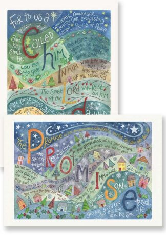 Hannah Dunnett For to us a child is born and promise card pack