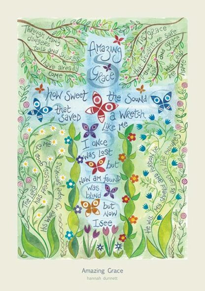Hannah Dunnett Amazing Grace greetings card