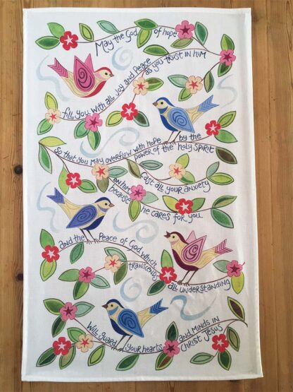 Hannah Dunnett God of Hope Tea Towel design