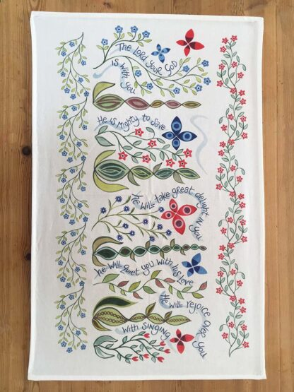Hannah Dunnett Great Delight Tea Towel design