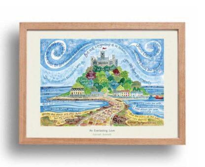 Hannah Dunnett An Everlasting Love A3 Poster oak frame