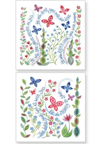 Hannah Dunnett Delight and God is With You Notecards