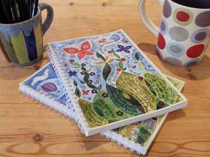 Hannah Dunnett Great Delight spiral bound notebooks close up