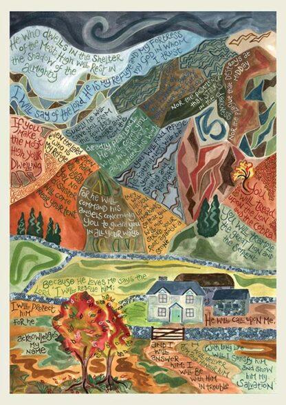 Hannah Dunnett Psalm 91 notebook cover