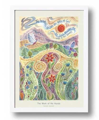 Hannah Dunnett The Work of His Hands A3 Poster white frame