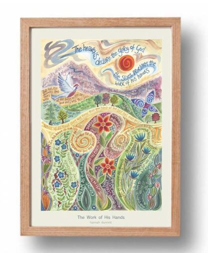 Hannah Dunnett The Work of His Hands Poster oak frame