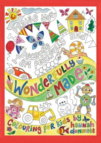 Hannah Dunnett Wonderfully Made Kids Coloring Book front cover US version