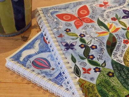 Hannah Dunnett spiral bound notebooks super close up