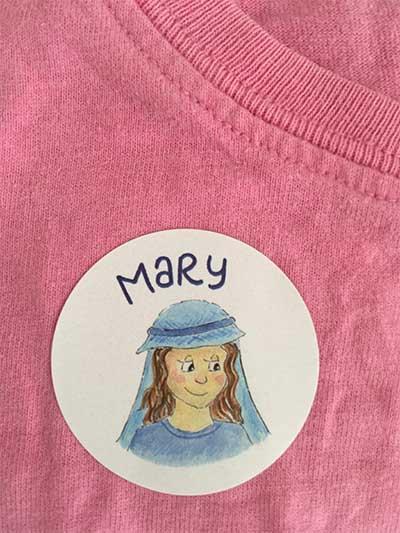 Hannah Dunnett Mary Christmas Sticker image
