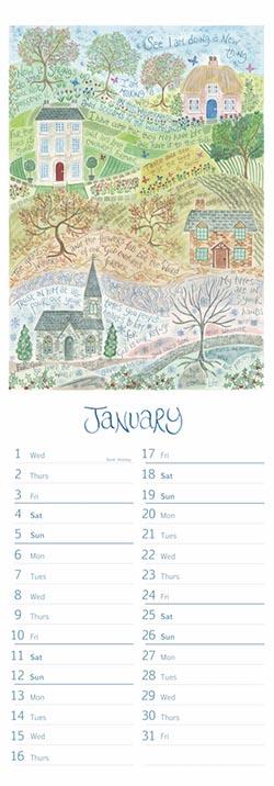 Hannah Dunnett 2020 Slimline Calendar January