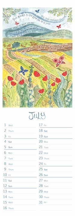 Hannah Dunnett 2020 Slimline Calendar July