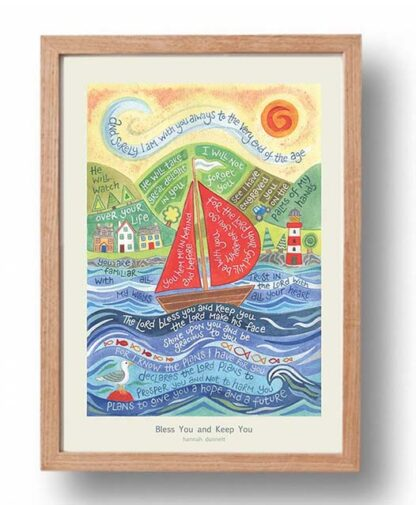 Hannah Dunnett Bless You and Keep You A3 Poster oak frame USA version