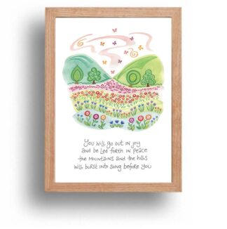 Hannah Dunnett Burst Into Song print wood frame USA version