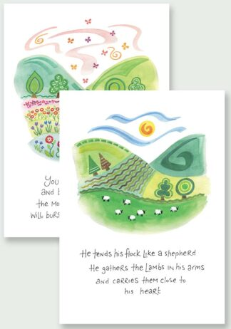 Hannah Dunnett Close To His Heart and Burst Into Song Notecards USA version