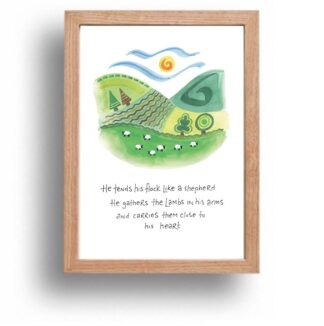 Hannah Dunnett Close To His Heart print wood frame USA version