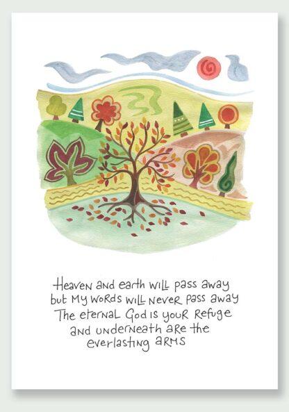 Hannah Dunnett Eternal God notecard and print USA version