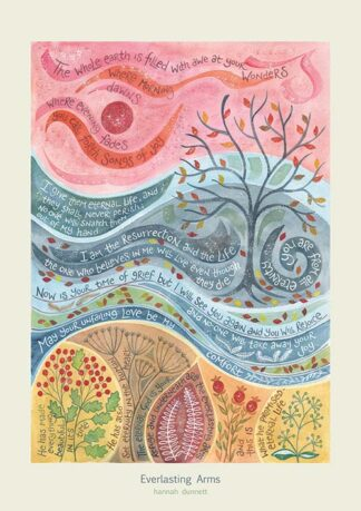 Hannah Dunnett Everlasting Arms greetings card and poster USA version