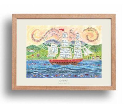 Hannah Dunnett Good Hope Poster oak frame USA version