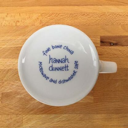Hannah Dunnett He Delights in You China Mug close up base