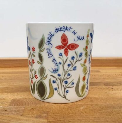 Hannah Dunnett He Delights in You China Mug close up middle