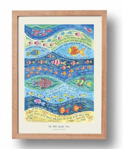 Hannah Dunnett He Will Guide You Poster oak frame USA version