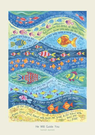 Hannah Dunnett He Will Guide You greetings card and poster USA version
