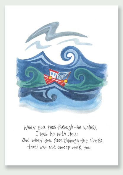 Hannah Dunnett I Will Be With You notecard and print USA version