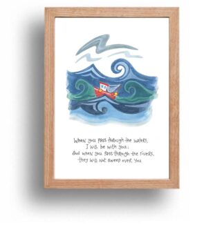 Hannah Dunnett I Will Be With You print wood frame USA version