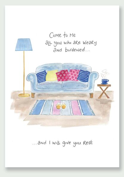 Hannah Dunnett I Will Give You Rest notecard and print image USA version