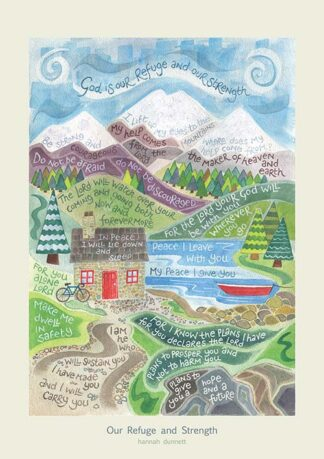 Hannah Dunnett Our Refuge and Strength greetings card and poster USA version
