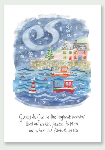 Hannah Dunnett Peace On Earth Christmas Card USA version