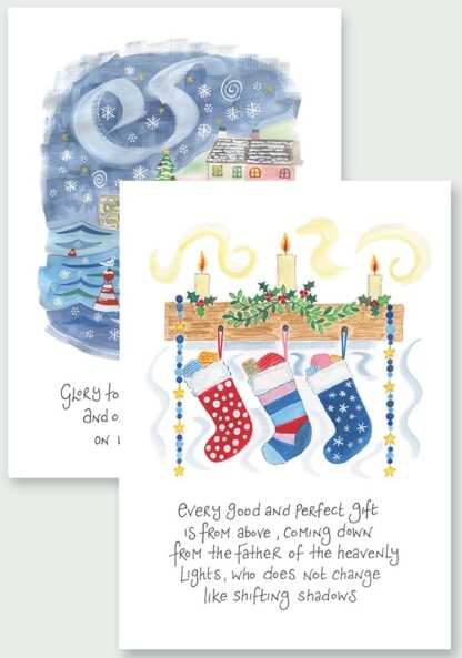 Hannah Dunnett Peace On Earth and From The Father Christmas Cards USA version