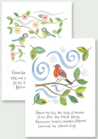 Hannah Dunnett Praise My Soul and He Gently Bears Us Notecards USA version