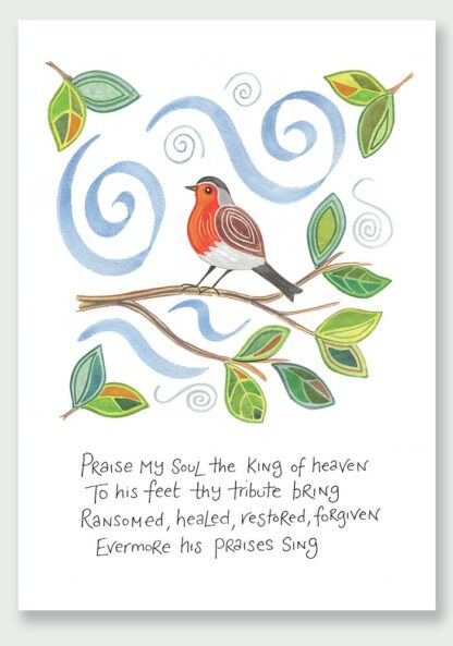 Hannah Dunnett Praise My Soul notecard and print USA version