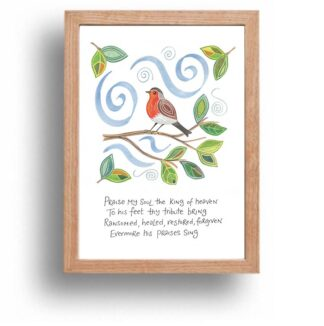Hannah Dunnett Praise My Soul print wood frame USA version