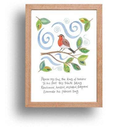 Hannah Dunnett Praise My Soul print wood frame USA version