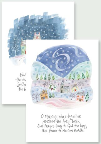 Hannah Dunnett Proclaim The Holy Birth and The Wondrous Gift Christmas Cards USA version