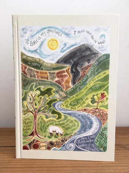 Hannah Dunnett Psalm 23 Journal USA version Front Cover image