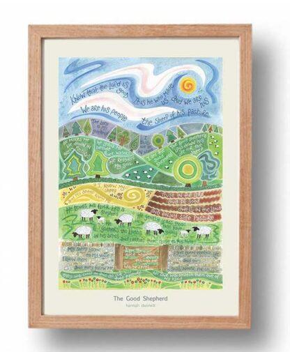 Hannah Dunnett The Good Shepherd Poster oak frame USA version